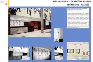 1998 - Reforma do hall da reitoria da UFMG