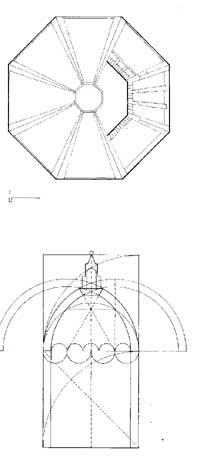 Planta e esquema geométrico