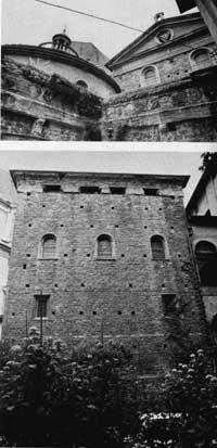 O exterior da sacristia