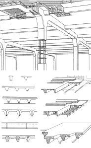 Fig. 01 – Sistema construtivo em concreto armado de Hennebique, patenteado em 1897.