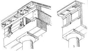 Fig. 02 – Origem carpinteira da ordem Dórica,  segundo Choisy.