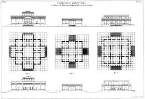 Fig. 03 – Taxis representada nos Précis dês leçons d'architecture, J. N. L. Durand, 1823.